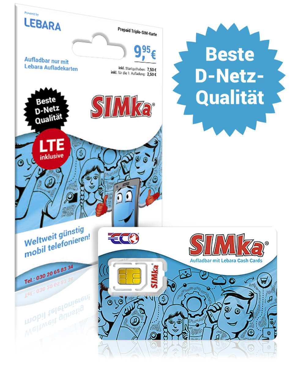 SIM-Karte SIMka - Startpaket